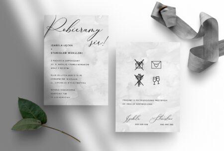 Ida zaproszenie ślubne
