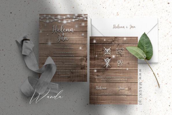 Wanda zaproszenie ślubne
