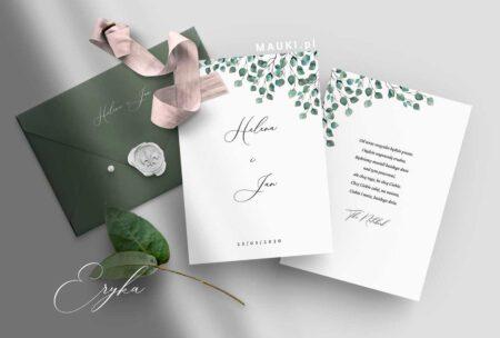 Eryka zaproszenie ślubne