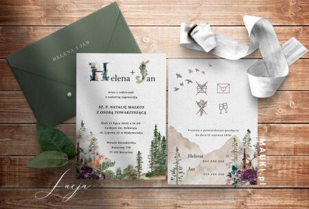 Łucja zaproszenie ślubne
