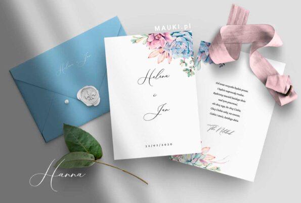 Hanna zaproszenie ślubne