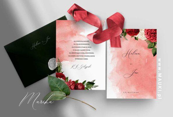 Marika zaproszenie ślubne