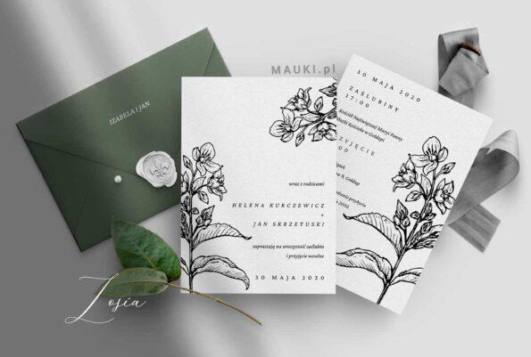 Zosia zaproszenie ślubne