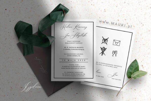 zaproszenie ślubne Izydora
