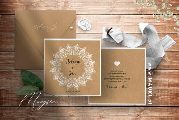 Marysia zaproszenie ślubne