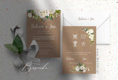 Basieńka zaproszenie ślubne