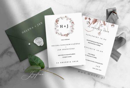 Józefina zaproszenie ślubne