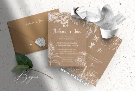Bogna zaproszenie ślubne