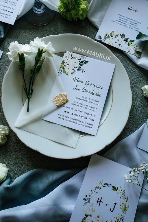 zaproszenia z kwiatami