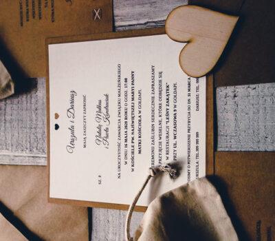 2020 Ula i Darek: zestaw poligrafii ślubnej w stylu eko
