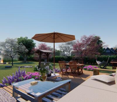 Projekt wiejskiego ogrodu w stylu angielskim 2021