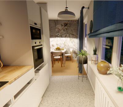 Projekt kuchni w kształcie litery L 2020